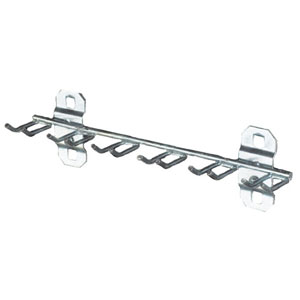 "Stainless Steel Multi-Prong Tool Holder, 8-1/8""W with 3/4"" I.D."