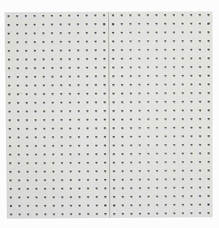 "Tan Epoxy, 18 Gauge Steel Square Hole Pegboards, Set of 2, 18""x 36""x 9/16"""