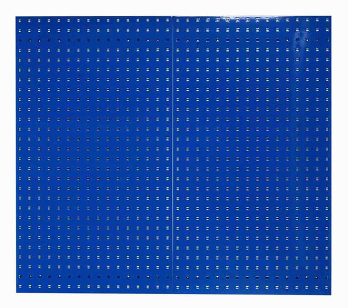 "Blue Epoxy, 18 Gauge Steel Square Hole Pegboards, Set of 2, 24""x 42-1/2""x 9/16"""
