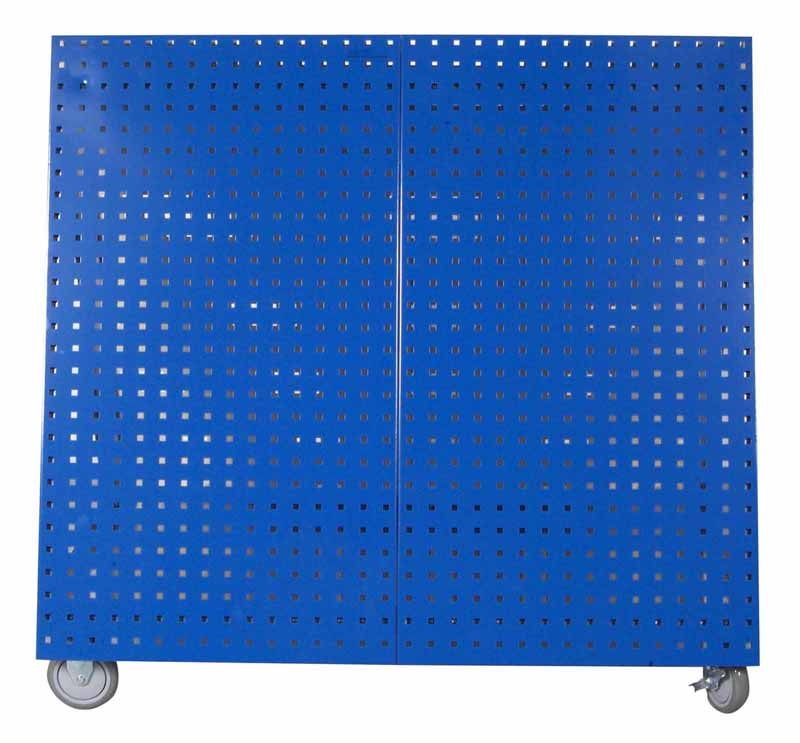 "36-3/4""L x 39-1/4""H x 21-1/4""W Anodized Anodized Aluminum Frame Tool Cart with Tray, Blue"