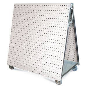 "Stainless Steel LocBoard Tool Cart, 36 3/4""L x 39 1/4""H x 21 1/4""W"