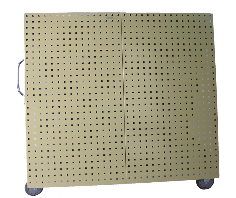 """48"""" L x 46"""" H x 26-5/8"""" W Aluminum Frame Tool Cart with Tray and Tan LocBoard"""
