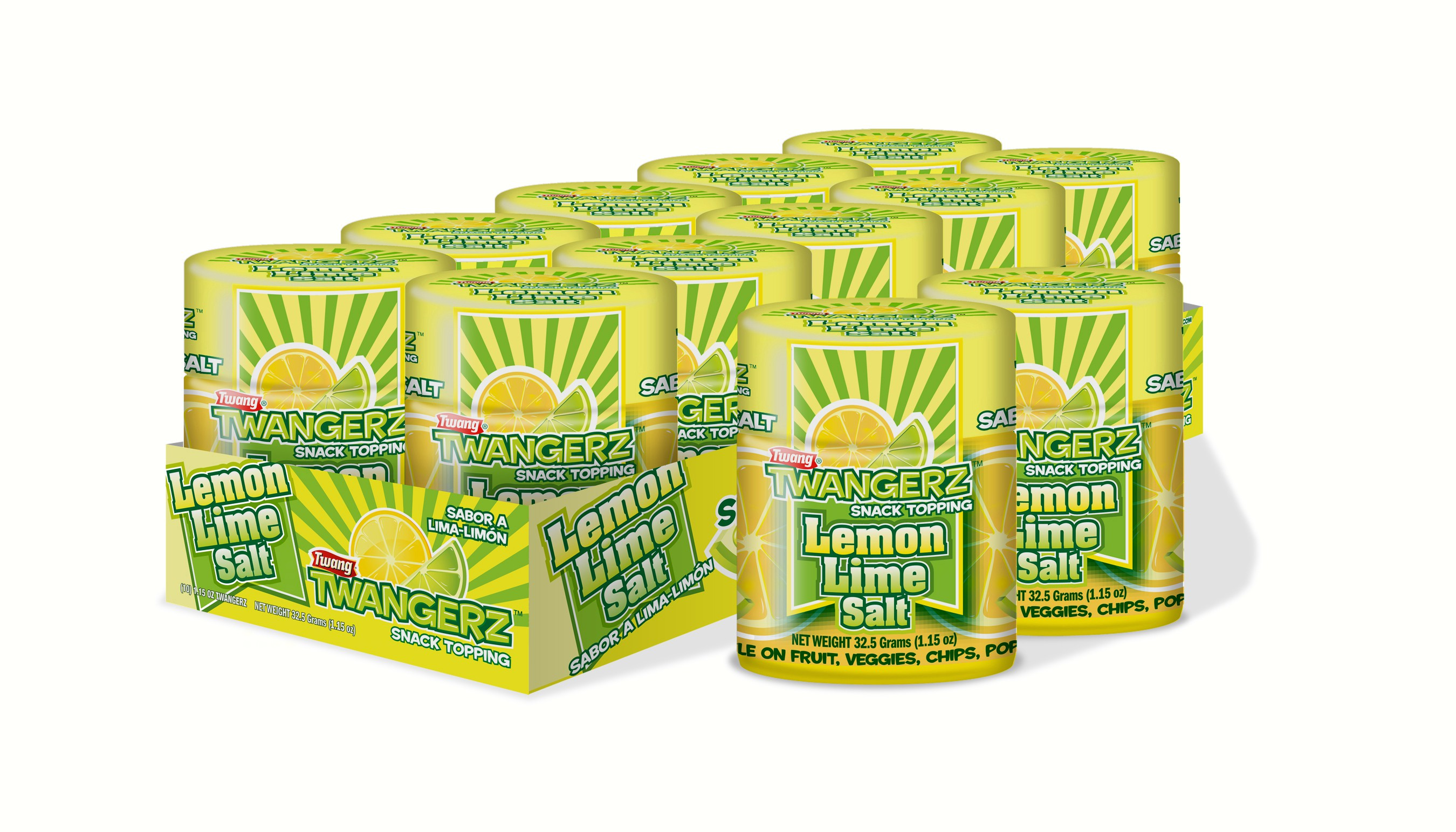 Lemon-Lime Shaker Tray (Tray Comes with 10 Lemon-Lime Salt Shakers)