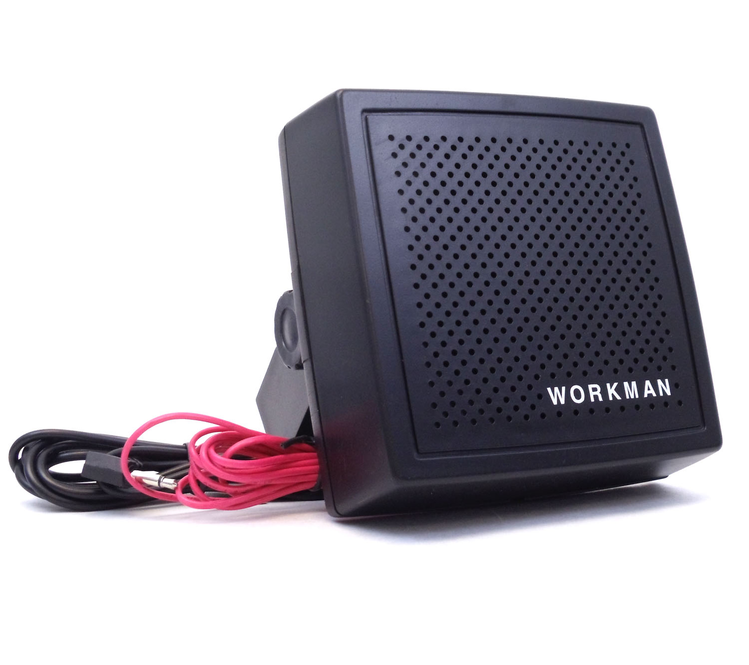 "WORKMAN - 4""  8 OHM AMPLIFIED EXTENSION SPEAKER WITH 6 FOOT CABLE &  3.5MM PLUG"