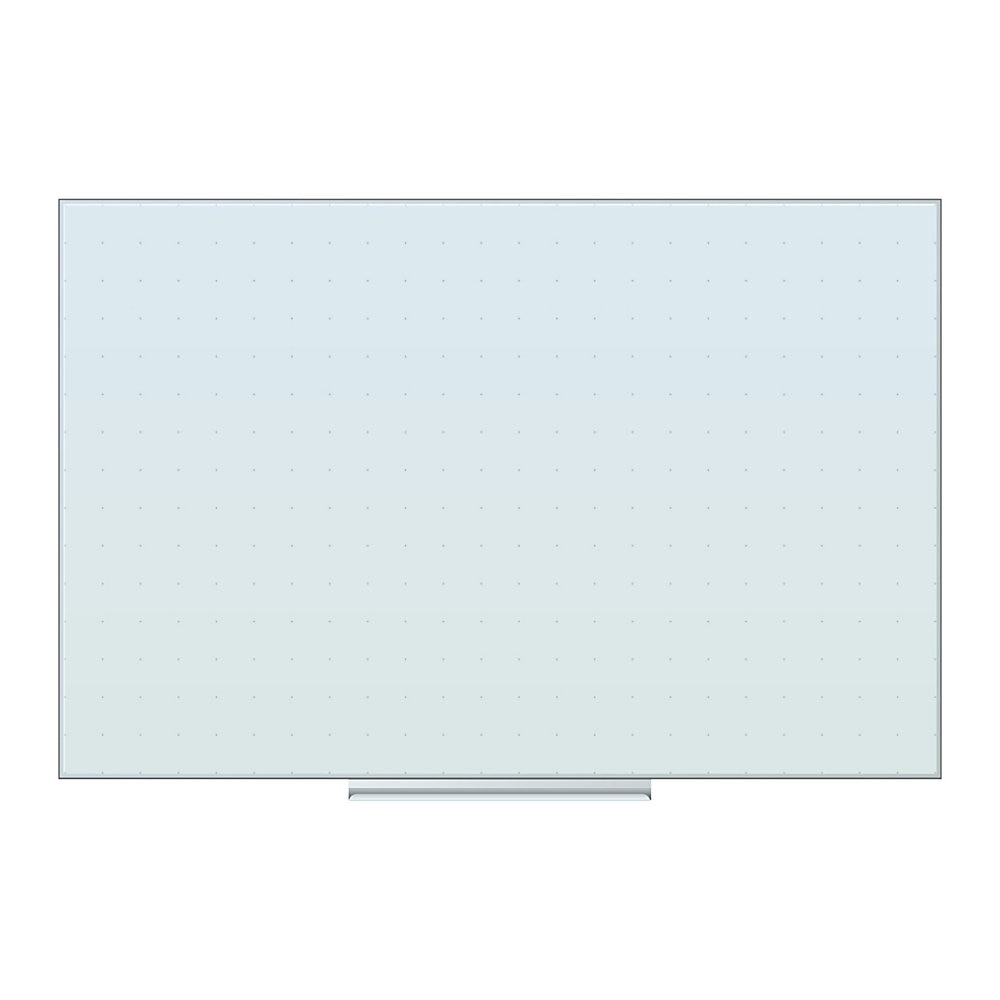 Floating Glass Ghost Grid Dry Erase Board, 36 x 24, White