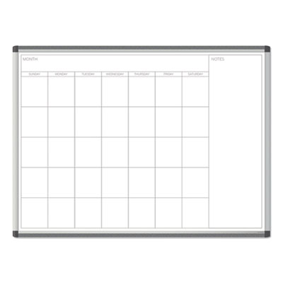 PINIT Magnetic Dry Erase Undated One Month Calendar, 48 x 36, White