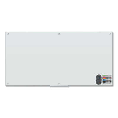 Magnetic Glass Dry Erase Board Value Pack, 72 x 36, White