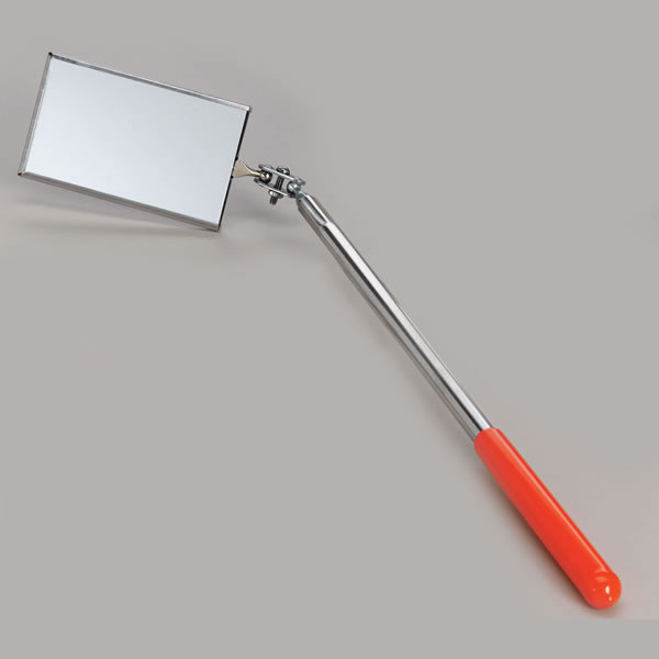 "2 1/8"" X 3 1/2"" Rectangular Inspection Mirror With Handle"