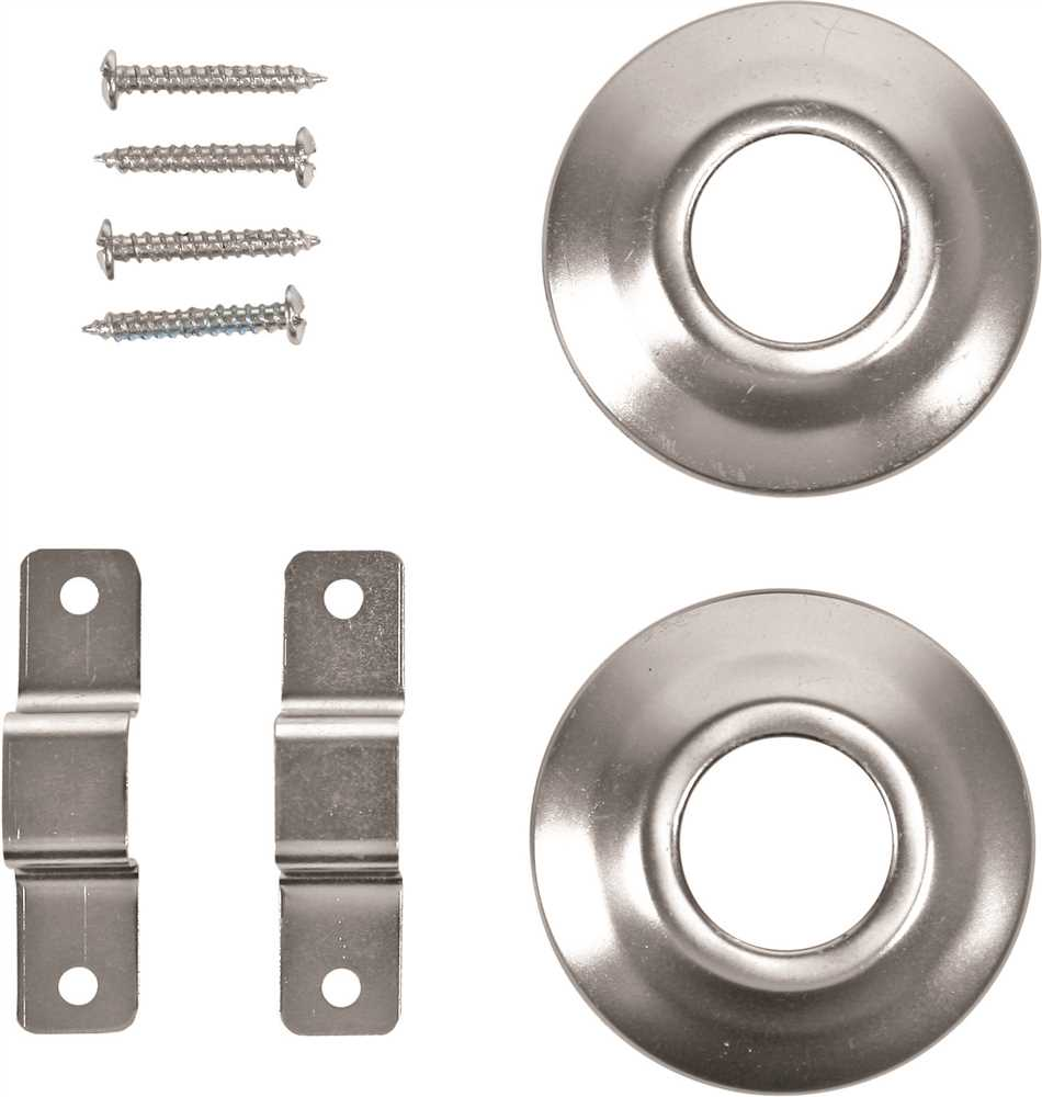 SHOWER ROD BRACKET, CONCEALED SCREW, CHROME PLATED, 5 PER PACK
