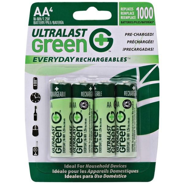 4PK CARDED AA BATTERIES