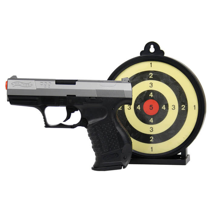 Umarex Walther P99 Bi-Color Spring Airsoft Action Kit with Gel Target