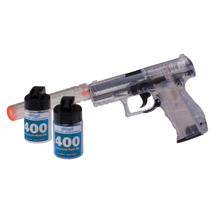 Umarex Walther PPQ Spring Airsoft Pistol Kit - Clear