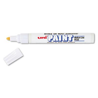 Permanent Marker, Medium Bullet Tip, White