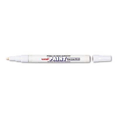 Permanent Marker, Fine Bullet Tip, White