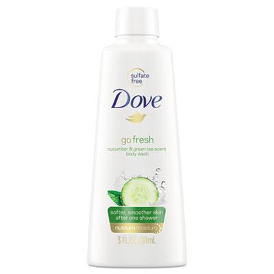 Body Wash, Cucumber and Green Tea, 3 oz, 24/Carton