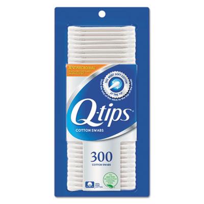 Cotton Swabs, Antibacterial, 300/Pack, 12/Carton