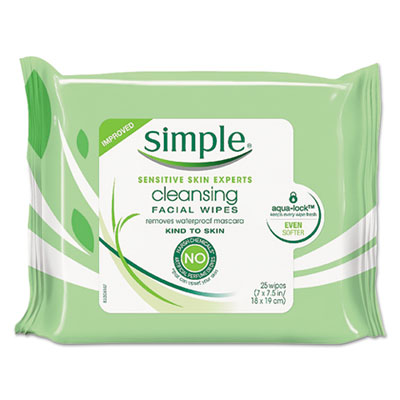 Eye And Skin Care, Facial Wipes, 25/Pack, 6 Packs/Carton