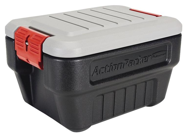 ActionPacker FG11700438 Storage Container, 8 gal, 19 in L X 14.1 in W X 12.1 in H, Plastic