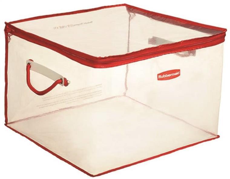Rubbermaid 1802621 Flexible Medium Storage Tote, 15 gal, 17-1/2 in L x 16 in W x 12 in H, Plastic