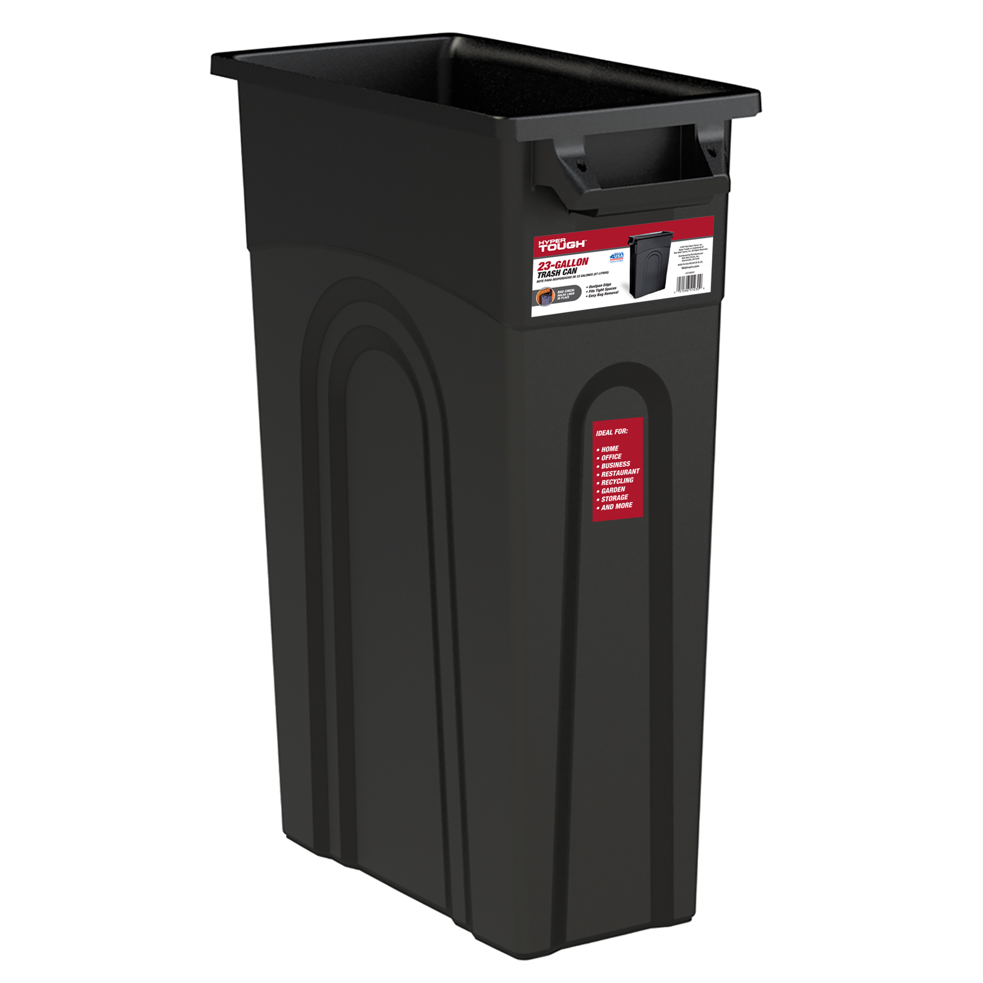 CONTAINER WASTE BLACK 23 GAL