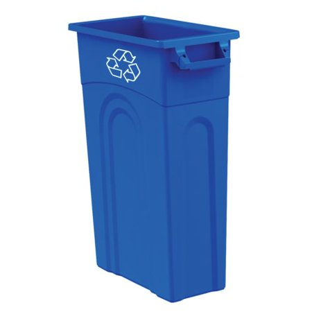CAN RECYCLE BLUE 23 GALLON