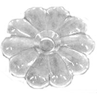 BUTTON ROSETTE CLEAR BG 100CT