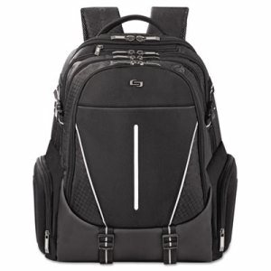 "Active Laptop Backpack, 17.3"", 12 1/2 x 6 1/2 x 19, Black"