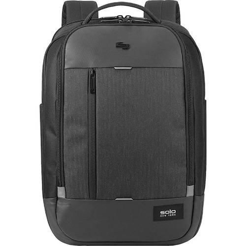 "Magnitude Backpack, For 17.3"" Laptops, 12.5 x 6 x 18.5, Black Herringbone"