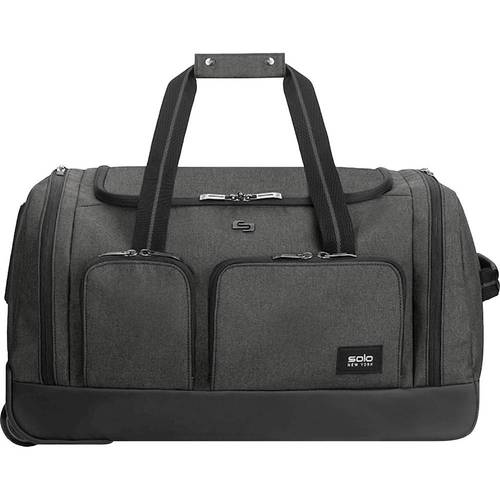 Leroy Rolling Duffel, Polyester, 12 x 10 1/2 x 10 1/2, Gray