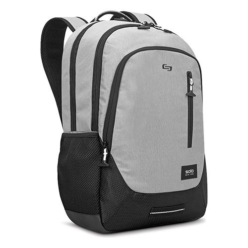"""Region Backpack, For 15.6"""" Laptops, 13 x 5 x 19, Light Gray"""