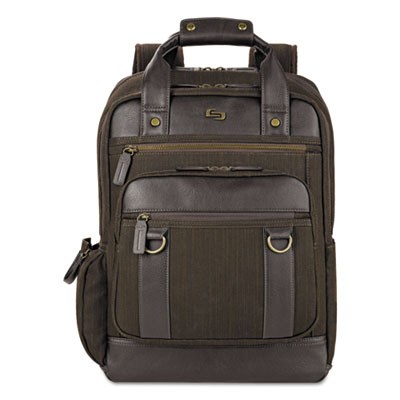 "Bradford Backpack, 15.6"", 12 x 5 x 17, Olive Denim/Espresso"