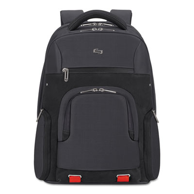 """Stealth BackPack, 14.5"""" x 8"""" x 19.5"""", Polyester, Black"""
