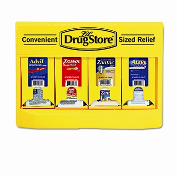 Single Dose Medicine Dispenser, 110-Pieces, Plastic Case, Yellow/Black