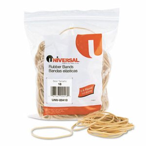 Rubber Bands, Size 18, 3 x 1/16, 400 Bands/1/4lb Pack