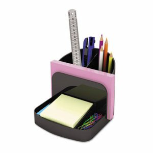 Deluxe Message Center, Six Sections, 5 1/2 x 6 3/4 x 5, Black