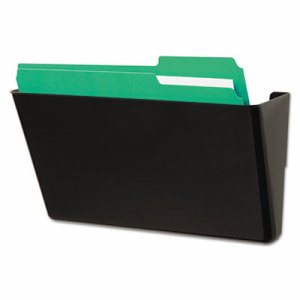 Recycled Wall File, Add-On Pocket, Plastic, Black