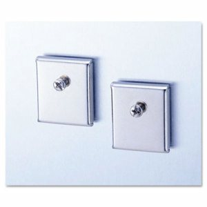 Cubicle Accessory Mounting Magnets, Silver, Set of 2