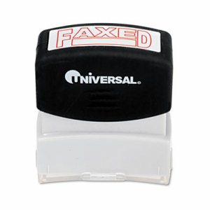 Message Stamp, FAXED, Pre-Inked One-Color, Red