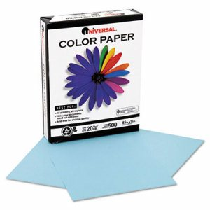 Colored Paper, 20lb, 8-1/2 x 11, Blue, 500 Sheets/Ream