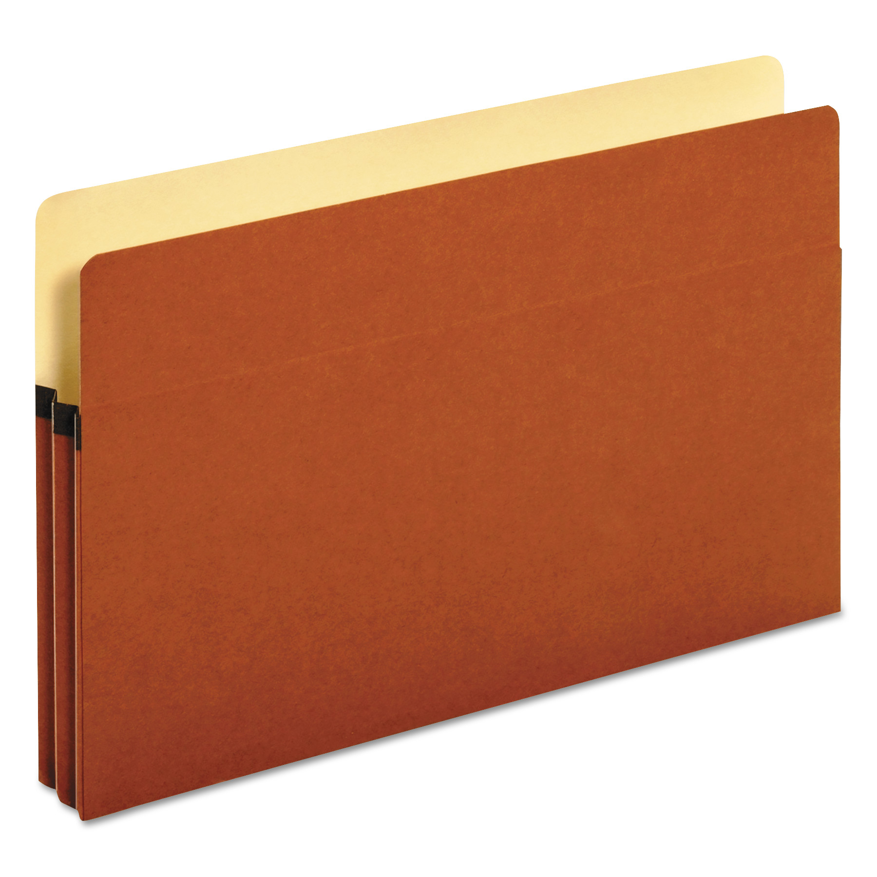 1 3/4 Inch Expansion File Pockets, Straight Tab, Legal, Redrope/Manila, 25/Box