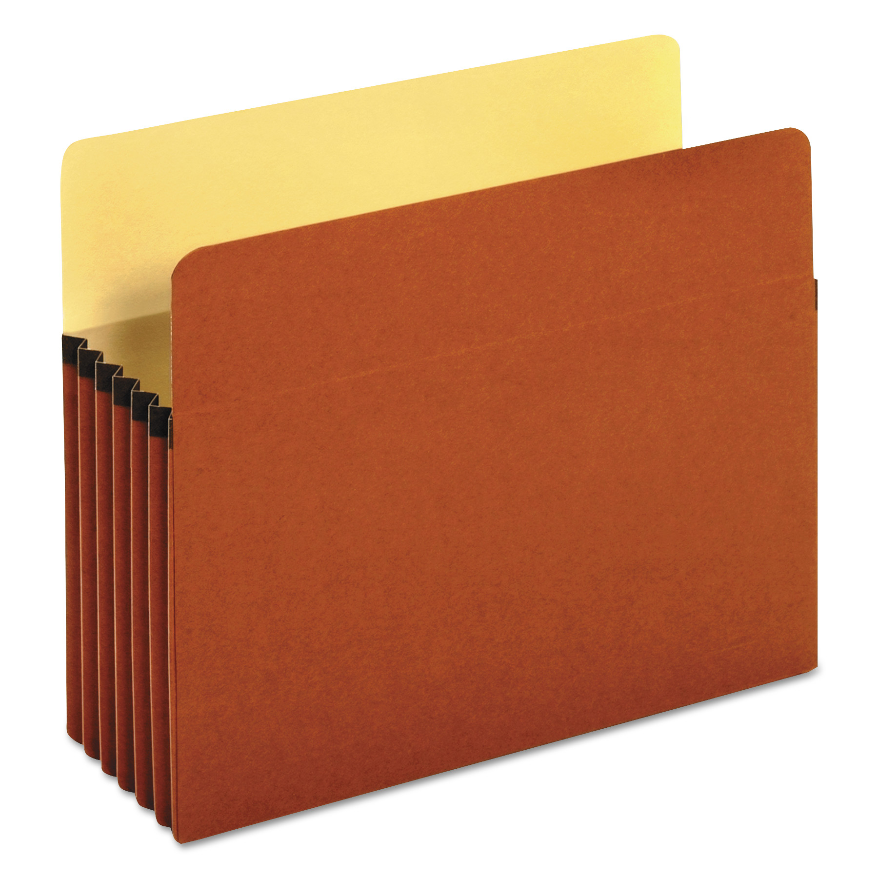 5 1/4 Inch Expansion File Pockets, Straight Tab, Letter, Redrope/Manila, 10/Box