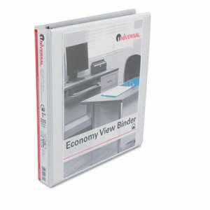"Slant-Ring Economy View Binder, 1"" Capacity, White"