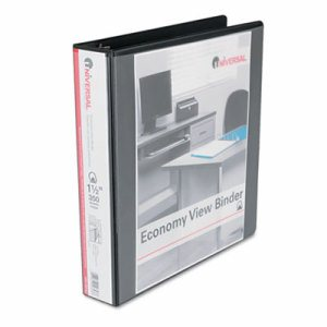 "Slant-Ring Economy View Binder, 1-1/2"" Capacity, Black"