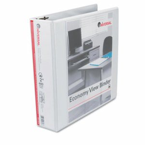 "Slant-Ring Economy View Binder, 2"" Capacity, White"
