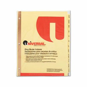 Preprinted Plastic-Coated Tab Dividers, 12 Month Tabs, Letter, Buff, 12/Set