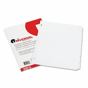 Write-On/Erasable Indexes, Eight White Tabs, Letter, White