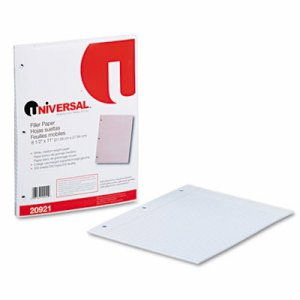 Filler Paper, 8 1/2 x 11, College Rule, White, 200 Sheets/Pack