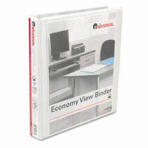 "Economy Round Ring View Binder, 1"" Capacity, White"