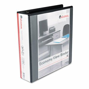 "Economy Round Ring View Binder, 2"" Capacity, Black"