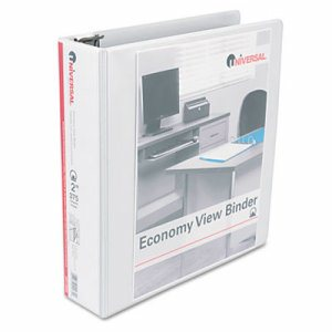 "Economy Round Ring View Binder, 2"" Capacity, White"
